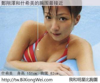 鄭翔澤和明星比胸圍的結果