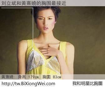 刘立斌和明星比胸圍的結果