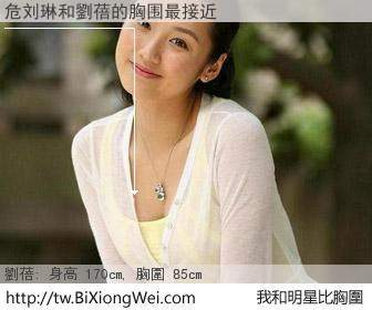 危刘琳和明星比胸圍的結果