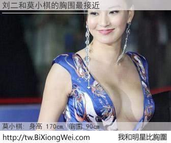刘二和明星比胸圍的結果