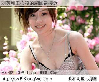 刘英和明星比胸圍的結果