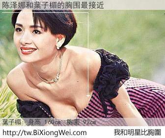 陈泽娜和明星比胸圍的結果