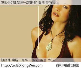 刘玥和明星比胸圍的結果